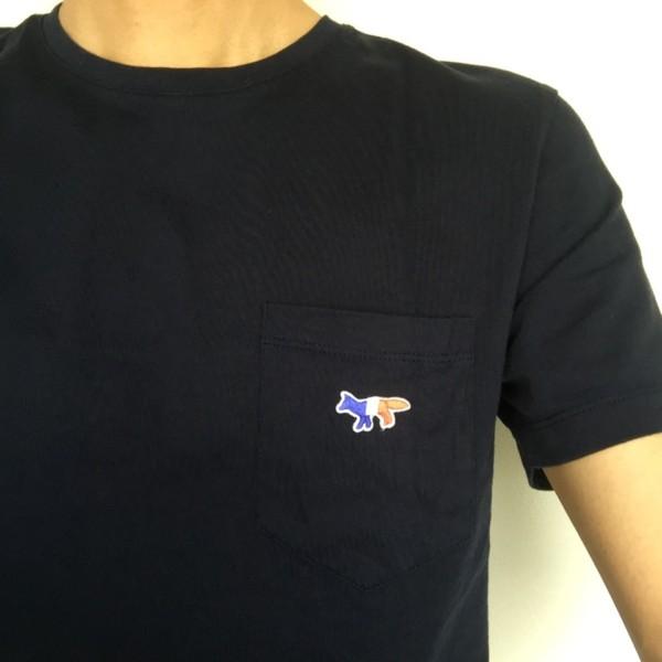 MAISON KITSUNE(メゾンキツネ)トリコロールワンポイントポケットTシャツ